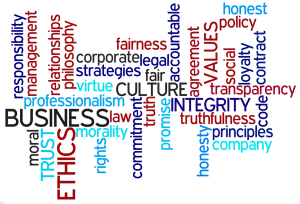 Business Ethics Word Collage