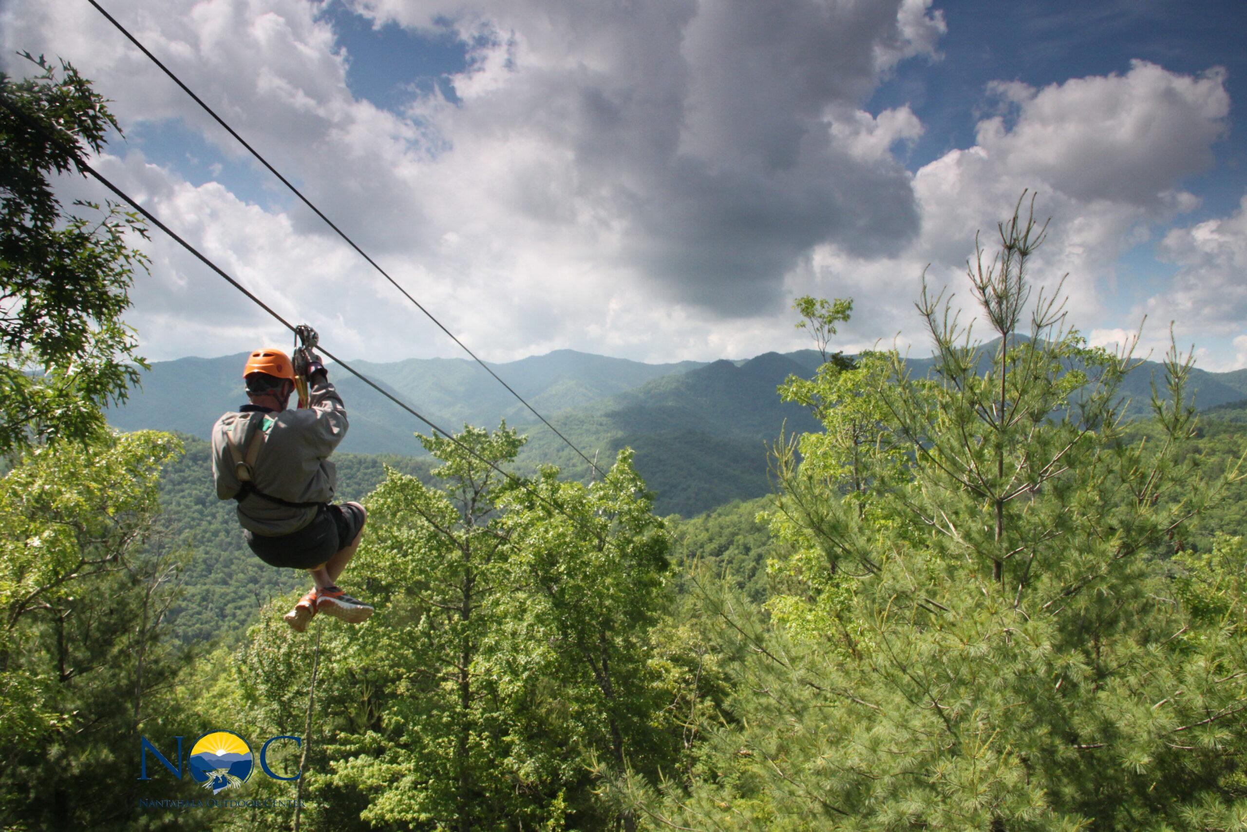 Ziplining in the Smokey Mountains