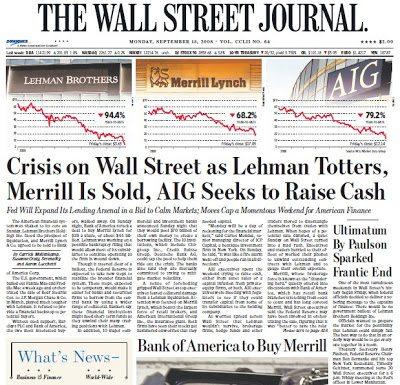 WSJ Headline 20080915