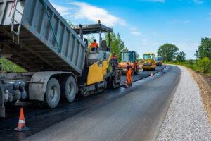 Road paving equipment