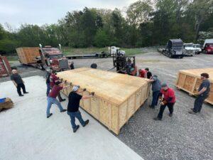 9K Fiber Laser Being Unloaded